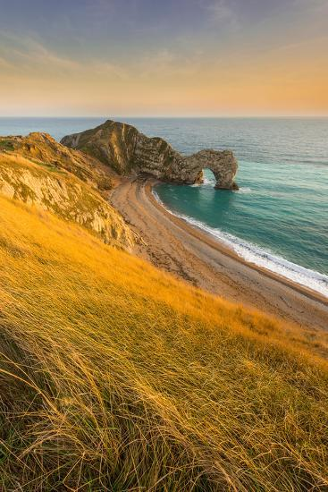 A View of Durdle Door in Dorset-Chris Button-Photographic Print