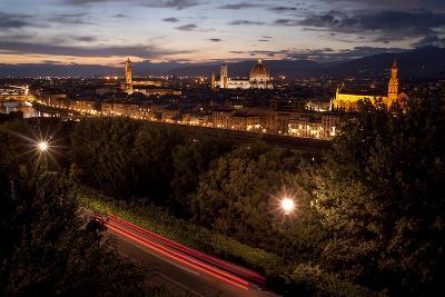 A View of Florence from Piazzale Michelangelo at Dusk-Tino Soriano-Photographic Print