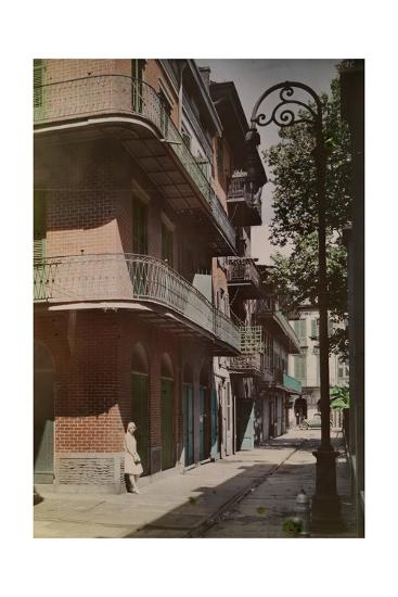 A View of Galleries in the French Quarter-Edwin L^ Wisherd-Photographic Print