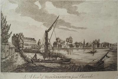 A View of Hammersmith from Chiswick, Engraved by John Royce (Fl.1764-90), C.1770-John Oliphant-Giclee Print