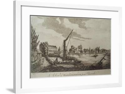 A View of Hammersmith from Chiswick, Engraved by John Royce (Fl.1764-90), C.1770-John Oliphant-Framed Giclee Print