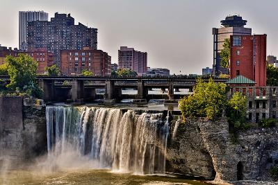 A View of High Falls on the Genesee River, Rochester New York State-Joe Restuccia-Photographic Print