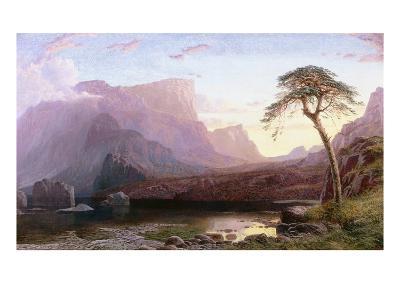 A View of Hornelen Fjord, Norway-Charles Pettitt-Giclee Print