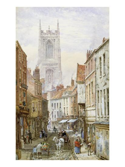 A View of Irongate, Derby-Louise J^ Rayner-Giclee Print