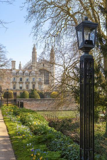 A View of Kings College from the Backs, Cambridge, Cambridgeshire, England, United Kingdom, Europe-Charlie Harding-Photographic Print