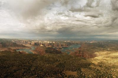 A View of Lake Powell from the Kaiparowits Plateau-Macduff Everton-Photographic Print
