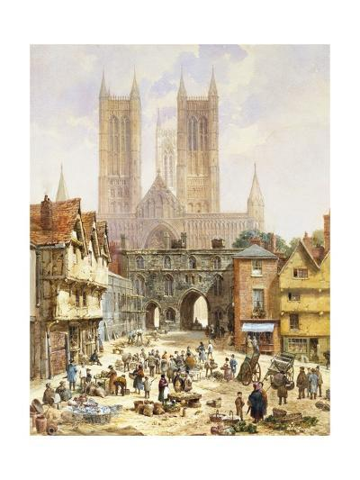 A View of Lincoln Cathedral, England-Louise J^ Rayner-Giclee Print