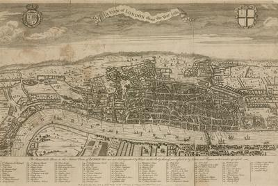A View of London About the Year 1560--Giclee Print