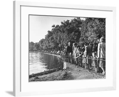 A View of London's Hyde Park--Framed Photographic Print