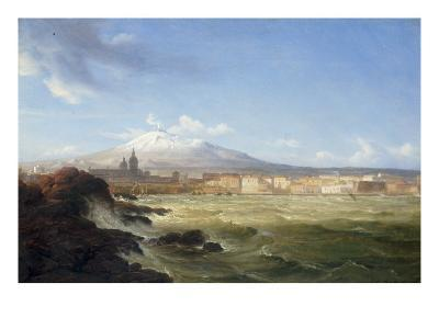 A View of Mount Etna from the Sea, 1833-Thomas Fearnley-Giclee Print