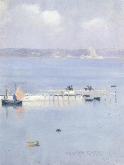 A View of Mount's Bay with the North Pier, C.1892-Norman Garstin-Giclee Print