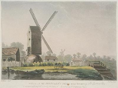 A View of Mr Metcalf's Mill Near Bromley, Bow, Poplar, London, 1785-Francis Jukes-Giclee Print