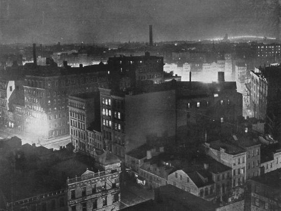 'A view of New York at night', 1915-Unknown-Photographic Print