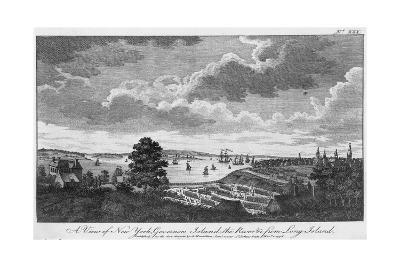 A View of New York, Governors Island, the River from Long Island-A. Hamilton, Jr.-Giclee Print