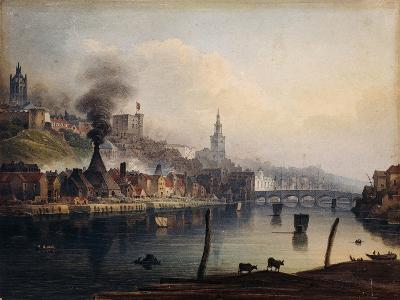 A View of Newcastle from the River Tyne-English School-Giclee Print