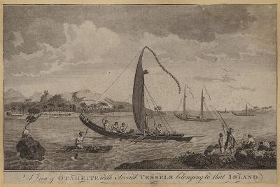 A View of Otaheite with Several Vessels Belonging to That Island--Giclee Print