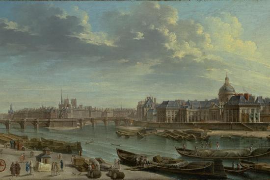 A View of Paris with the Ile de la Cité, 1763-Nicolas Jean Baptiste Raguenet-Giclee Print