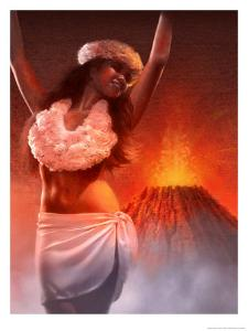 A View of Pele, the Hawaiian Goddess of the Volcano
