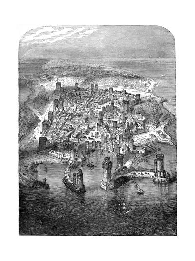 A View of Rhodes, 1480 (1882-188)--Giclee Print