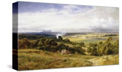 A View of Runnymede with Windsor Castle, England-Robert Gallon-Stretched Canvas Print