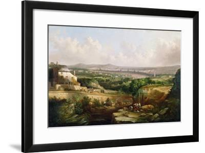 A View of Sheffield from Psalter Lane, C.1850-J. McIntyre-Framed Giclee Print