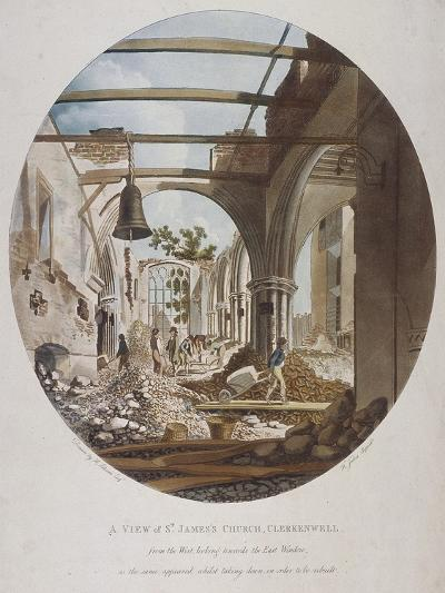 A View of St James's Church, Clerkenwell, Islington, London, 1789-Francis Jukes-Giclee Print
