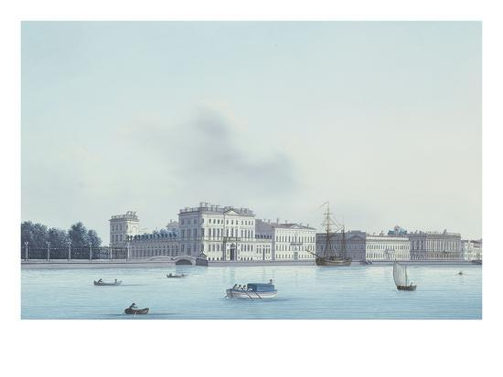 A View of St. Petersburg; the Neva River- Leperate-Giclee Print