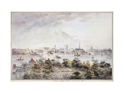 A View of Stockholm from Kungsholmen with the Royal Palace and Storkyrkan etc.-Elias Martin-Giclee Print