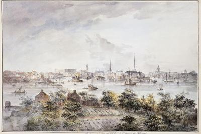 A View of Stockholm from Kungsholmen with the Royal Palace and Storkyrkan, Tyskakyrkan,…-Elias Martin-Giclee Print