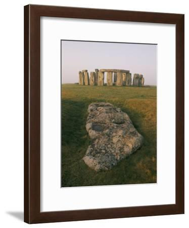 A View of Stonehenge in the Morning Light-Richard Nowitz-Framed Photographic Print