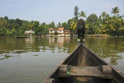 A View of the Backwaters from a Handcrafted Canoe-Kelley Miller-Photographic Print