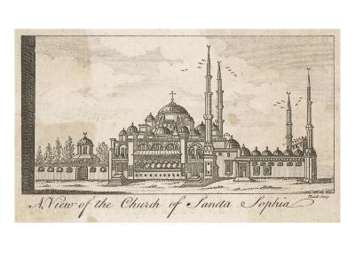 A View of the Church of Santa Sophia--Giclee Print