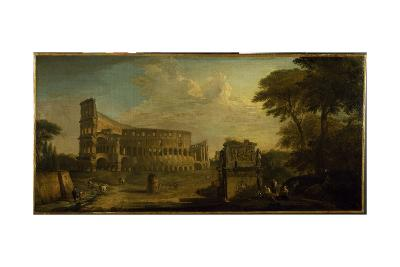 A View of the Colosseum, Rome-Giovani Paolo Panini-Giclee Print