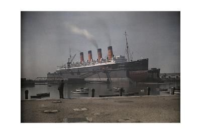 "A View of the Cunard S.S. ""Mauretania"" at Dock-Clifton R^ Adams-Photographic Print"