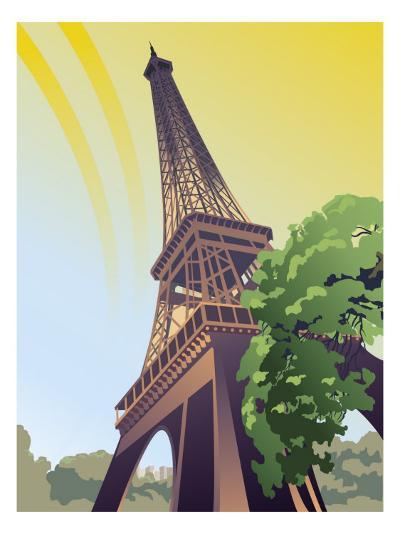 A View of the Eiffel Tower--Art Print