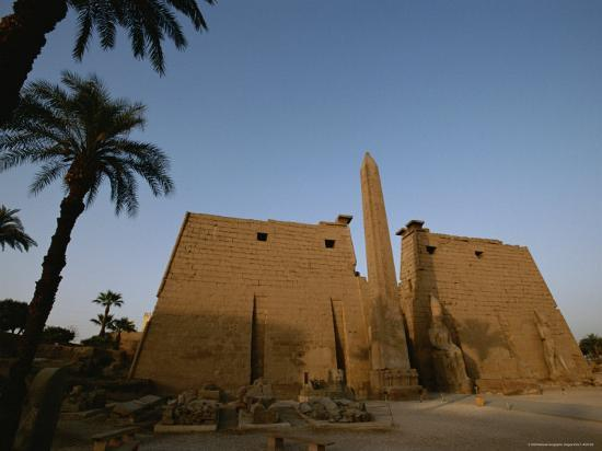 A View of the Exterior of a Temple at Luxor-Kenneth Garrett-Photographic Print
