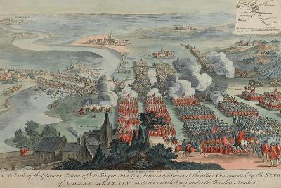A View of the Glorious Action of Dettingen, 16th-27th June 1743, Engraved by I. Pano, Published…-F. Daremberg-Giclee Print