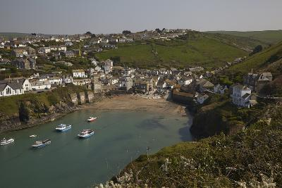A View of the Harbor at Low Tide, at Port Isaac, Near Padstow, on the Atlantic Coast of Cornwall-Nigel Hicks-Photographic Print