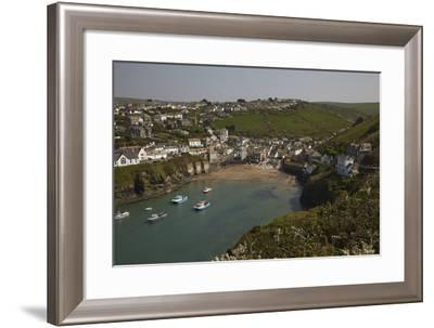 A View of the Harbor at Low Tide, at Port Isaac, Near Padstow, on the Atlantic Coast of Cornwall-Nigel Hicks-Framed Photographic Print