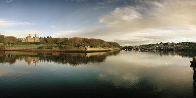 A View of the Harbor with Lews Castle in the Distance-Macduff Everton-Photographic Print