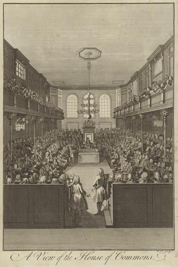 A View of the House of Commons, Westminster--Giclee Print