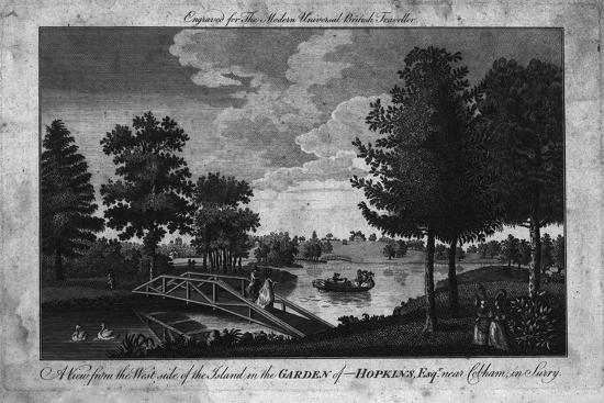 'A View of the Island in the Garden of Hopkins, Esqr. near Cobham in Surry.', c1760-Unknown-Giclee Print