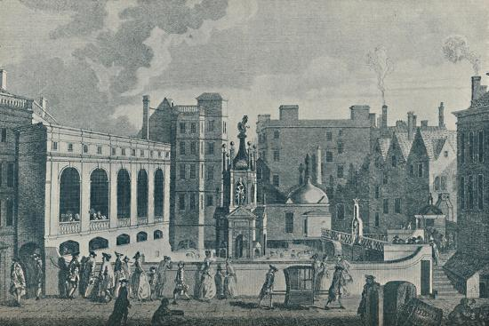 'A View of the King and Queen's Baths and the Great Pump Room at Bath', 1907-Unknown-Giclee Print