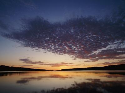 A View of the Lake at Sunset-Phil Schermeister-Photographic Print