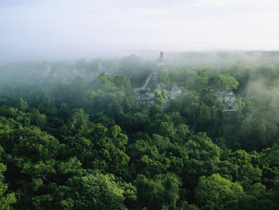 A View of the Mayan Ruins at Tikal-Kenneth Garrett-Photographic Print