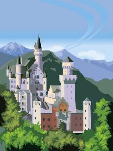A View of the Neuschwanstein Castle in Bavaria