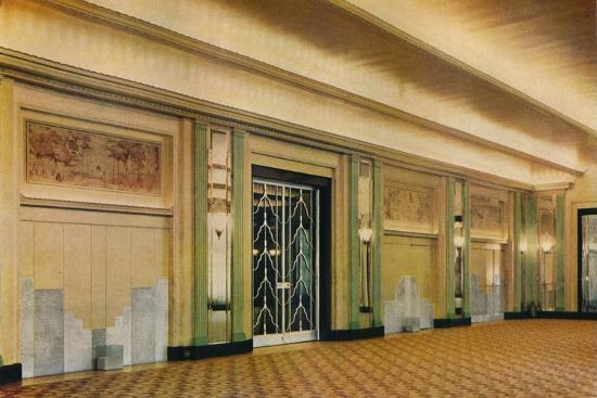 'A view of the new ballroom at Claridge's Hotel as designed by Oswald P. Milne', 1933-Unknown-Photographic Print