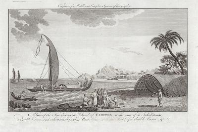 A View of the New Discovered Island of Ulieta with Some of the Inhabitants-Sydney Parkinson-Giclee Print