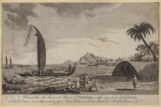A View of the New Discovered Island of Ulietea--Giclee Print