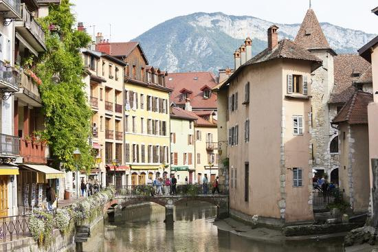 A View of the Old Town of Annecy, Haute-Savoie, France, Europe-Graham Lawrence-Photographic Print